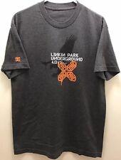 Original Linkin Park Underground 4.0 Official Fan Club Tshirt, Charcoal Gray, L