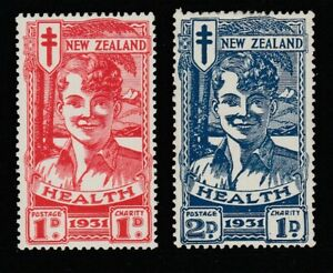 NEW ZEALAND 1931 Smiling Boys MVLH SG 546/7