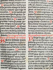 Rubricated Incunable Leaf Brevarium (73) - 1495