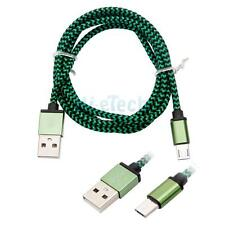 Brand New 3ft Braided Aluminum Micro USB Android Cable for Acer HP US Seller