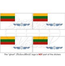 "LITHUANIA Lithuanian AirForce Flag 50mm(2"") Vinyl Bumper-Helmet Sticker-Decal x4"
