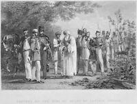 INDIAN REBELLION CAPTURE MUGHAL KING DELI BAHADUR SHAH, 1860 Art Print Engraving