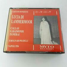 Donizetti LUCIA DI LAMMERMOOR 2 CD Box (1990) MYTO Callas NAPOLI 1956