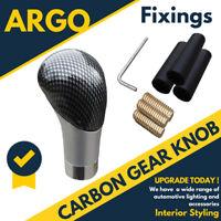 Carbon Fibre Fiber Car Gear Knob Shift Stick Ball Shifter Leaver Manual Change