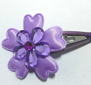 18  LILAC PETAL FLOWER Hair Slides GRIPS 18 Slides SCHOOL PARTY GIFTS
