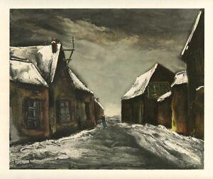 "Maurice Vlaminck ""Allainville"" lithograph by Mourlot"