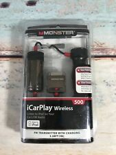 NEW!!! MONSTER iCarPlay Wireless Auto Scanning FM Transmitter with Charging