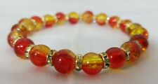 Beautiful Murano Glass Handmade Bead Bracelet  from Venice Red & Yellow