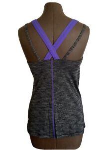 Lululemon Run  Tank Top Size 8 Purple & Dark Gray