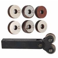 7pcs 0.5-2mm Black Knurling Diagonal Single Wheel Set Linear Knurl Pitch Tools