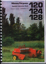 Massey Ferguson 120, 124 and 128 Baler Operator Instruction Manual Book