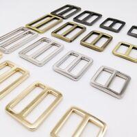 Metal Leather Hand Bag Strap Belt Adjust Tri-glide Buckle Slider Rectangle Ring