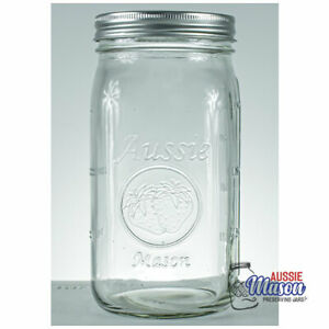 12 x 1 Litre Quart Wide Mouth Aussie Mason Australia Preserving Jars BPA Free