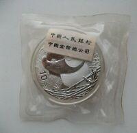 CHINA 10 YUAN 2002 PANDA 1OZ 1Unze AG999 UNC FOLIE ORIGINAL PACK