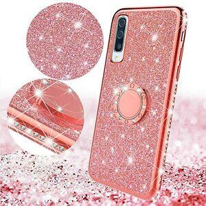 Bumper Diamond Bling Glitter Shockproof Ring Gel Case Cover  Apple iPhone Models