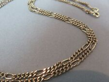 """9ct Rose Gold Chain Necklace. Figaro. 24""""    9.3 Grams.       xbced."""