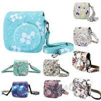 For Fujifilm Instax Mini 8 8+ 9 Camera Floral PU Leather Carrying Bag Case Cover