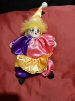 Artmark Harlequin Clown Jesters Small Figure Porcelain Head Soft Body