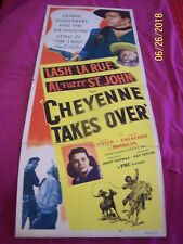 CHEYENNE TAKES OVER ORIGINAL 1948 1/2 Sheet Movie Poster SIGNED BY LASH LARUE