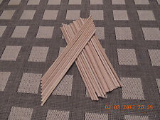 60 oak wooden dowels round smooth 8mm x 400mm