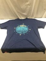 Vintage Meridian Line Wunderlust, Mountains, compass, Mens Soft T-shirt, USA