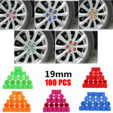100Pcs 19mm Car Silica Gel Wheel Nut Lug Dust Cover Cap Protector Hub Screw Rim