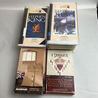 Lot 4 Volumes Stephen King Audio Books CASSETTE Set Tapes Dream catcher Dark