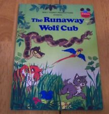 VINTAGE Walt Disney THE RUNAWAY WOLF CUB Jungle Book MOWGLI BALOO BOOK 1980