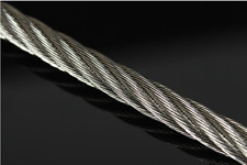 """316 Stainless Steel Wire Rope Cable 1/8"""" 3mm 500FT 1X19"""