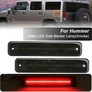 For 2003-2009 HUMMER H2 Smoked Lens Rear LED Side Marker Light Signal Lamp 2X