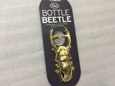 Fred Bottle Beetle Beer Bottle Opener Gold Metal NEW