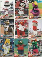 2018 TOPPS OPENING DAY MASCOT INSERT U-PICK COMPLETE YOUR SET