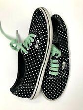 Vans Authentic Black white Mint Polka Dots Shoes men's us Size 6.5 women's 8