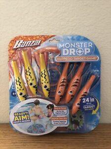 BANZAI Monster Drop Torpedo Target Pool Game Sinking Party Water Toy Dive Sticks