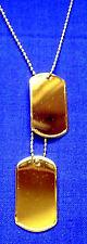 Dog Tag USA goldfarben FS Halskette Hundmarke Erkennungsmarke Grabstein