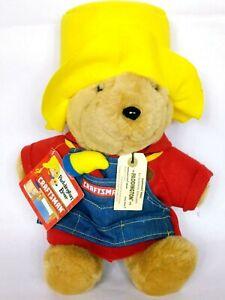 "NWT Sears Craftsman Paddington Bear Plush Stuffed Animal 16"""
