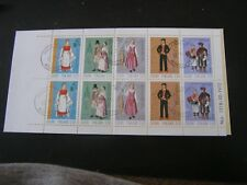 FINLAND, SCOTT # 518-522 COMPLETE BOOKLET 2-EACH COSTUMES 1972 ISSUE USED