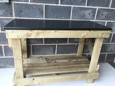 HAND MADE 5FT KITCHEN TOP STYLE WOODEN WORK BENCH NEW HEAVY DUTY AND STRONG
