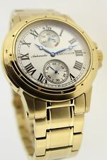 Runde Mechanisch-(Automatisch) Armbanduhren aus Edelstahl mit Römische Ziffern