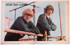PETER and GORDON - 1960'S MAGAZINE CENTREFOLD POSTER