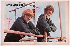 PETER and GORDON - 1960'S MAGAZINE CENTREFOLD POSTER