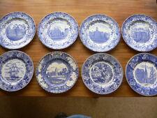 Jon Roth Old English Staffordshire Ware American Commemoration 8 Plates