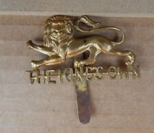 WW2 Kings Own Royal Lancaster Regiment Cap Badge Genuine badge b2