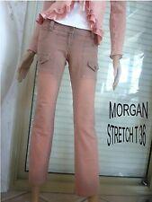 JEANS DE MARQUE MORGAN PATINE ROSE STRETCH T 36/38 IMPECCABLE