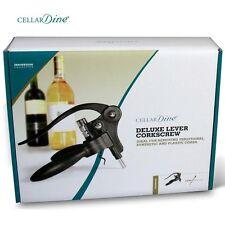 CellarDine Deluxe Lever Arm Corkscrew set - BOXED ** GREAT GIFT ** RRP £16.99