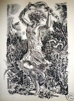 Decaris Albert gravure originale signée mythologie erotic prix de Rome superbe