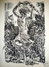 Albert Decaris Gravure originale signée mythologie erotic