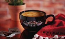 PRIMARK FRIENDS TV SERIES EXTRA LARGE BLACK CENTRAL PERK COFFEE CAPPUCCINO MUG