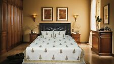 Indian Cotton Block Printed handmade Double Bed Sheets 2 Pillow Cover #012`