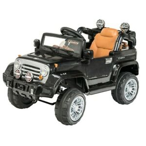 Brand New Sealed Box BLACK 6V JEEP LARGE SIZE Up to 7 years